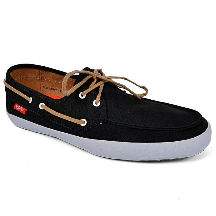 cfa684297b Vans Off The Wall Surf Chauffeur Black Tan Boat Shoes Mens 11.5 Sk8 Canvas