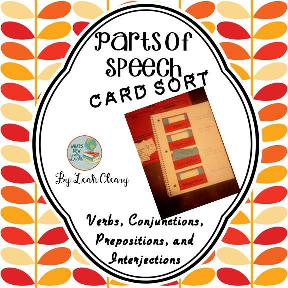 After teaching Parts of Speech—verbs, prepositions, conjunctions, and interjections--use this card sort to reinforce the concept with students. Use it as a game or as an activity at a grammar station. You will find 40 cards, 4 card sorting envelopes, and a card sorting mat.