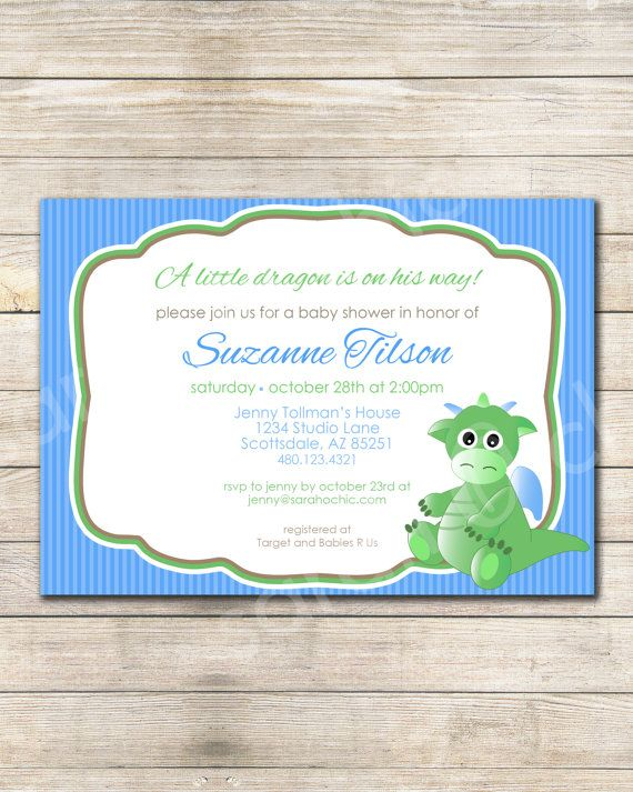 Dragon Baby Shower Favors Another Successful Adorable Lil Dragon   Baby  Shower Invite Samples  Baby Shower Invite Samples