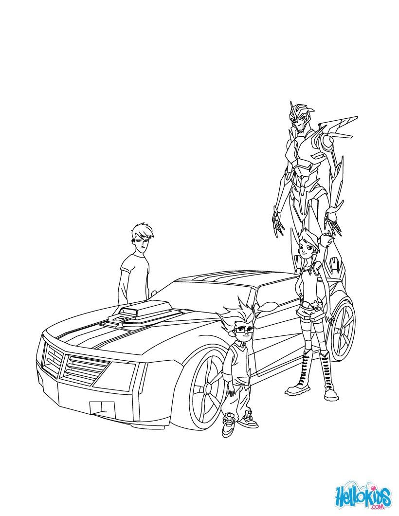 Autobots coloring page More Transformers