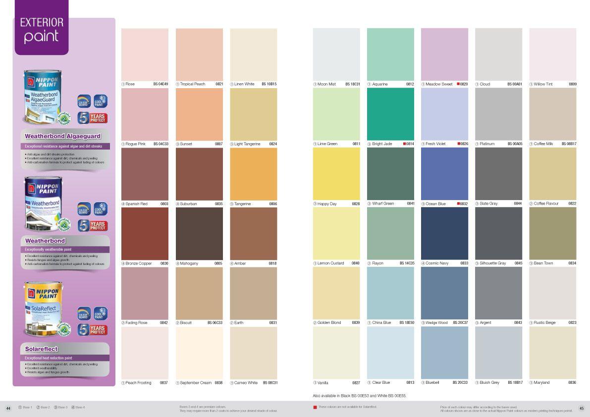 Interior paint colors chart - Nippon Weatherbond Algaeguard Chart Jpg 1 191 842 Pixels