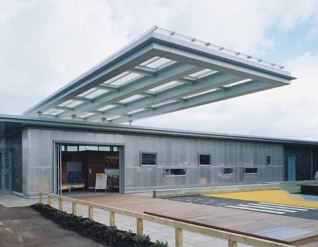 Facade Amp Cantilevered Roof Canopy John Perry Nursery
