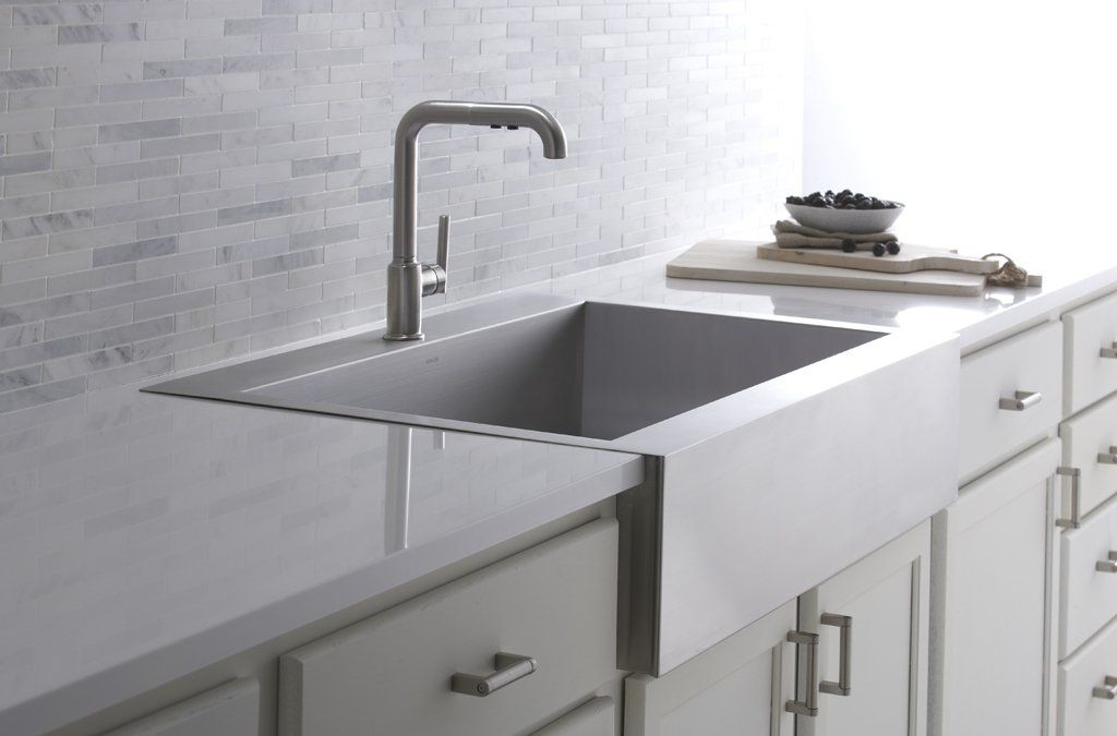 Vault Top Mount Single Bowl Stainless Steel Kitchen Sink With Shortened Apron Front For 36 Cabinet With Images Farmhouse Sink Kitchen Stainless Farmhouse Sink