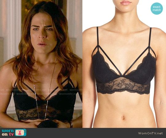 ea39d67a15fff Laurel s black lace bralette on How to Get Away with Murder. Outfit  Details  https