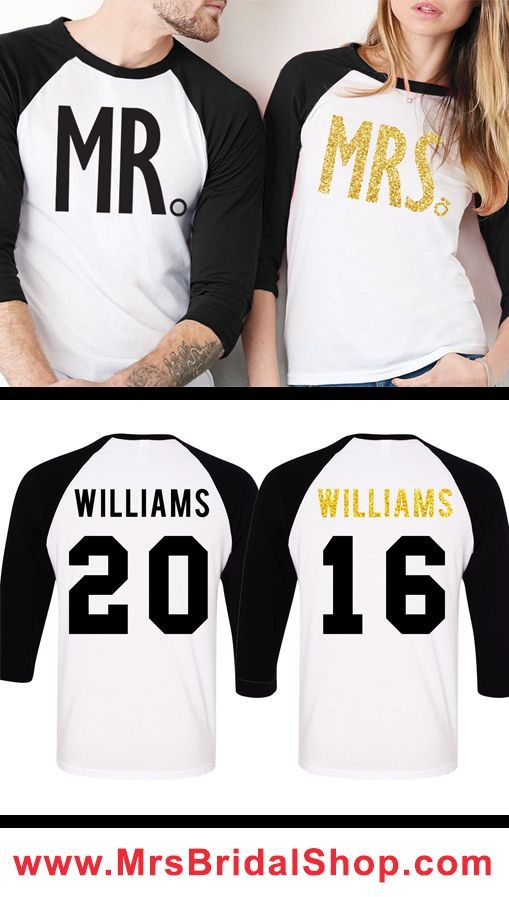 MR   MRS Gold Glitter Custom Couples Shirts! Customize the Name and Number  to make 35fd520e26d