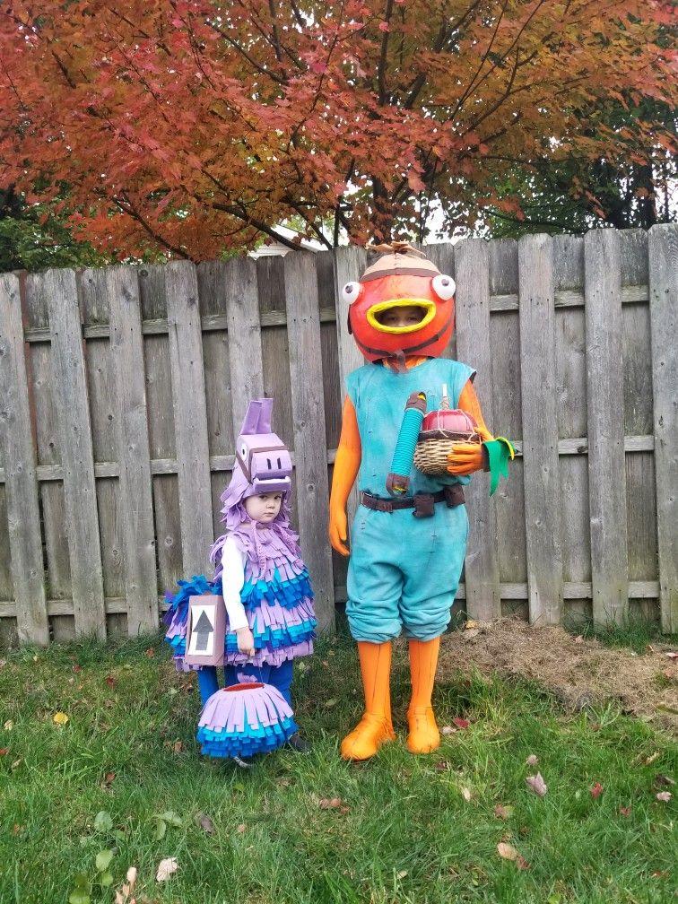Fortnite Fishstick And Loot Llama Character Costumes Diy Fish Costume Halloween Costumes For Kids