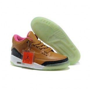 more photos 47722 38add Air Jordan 3 Transparent Bottom Apricot Shoes 1031