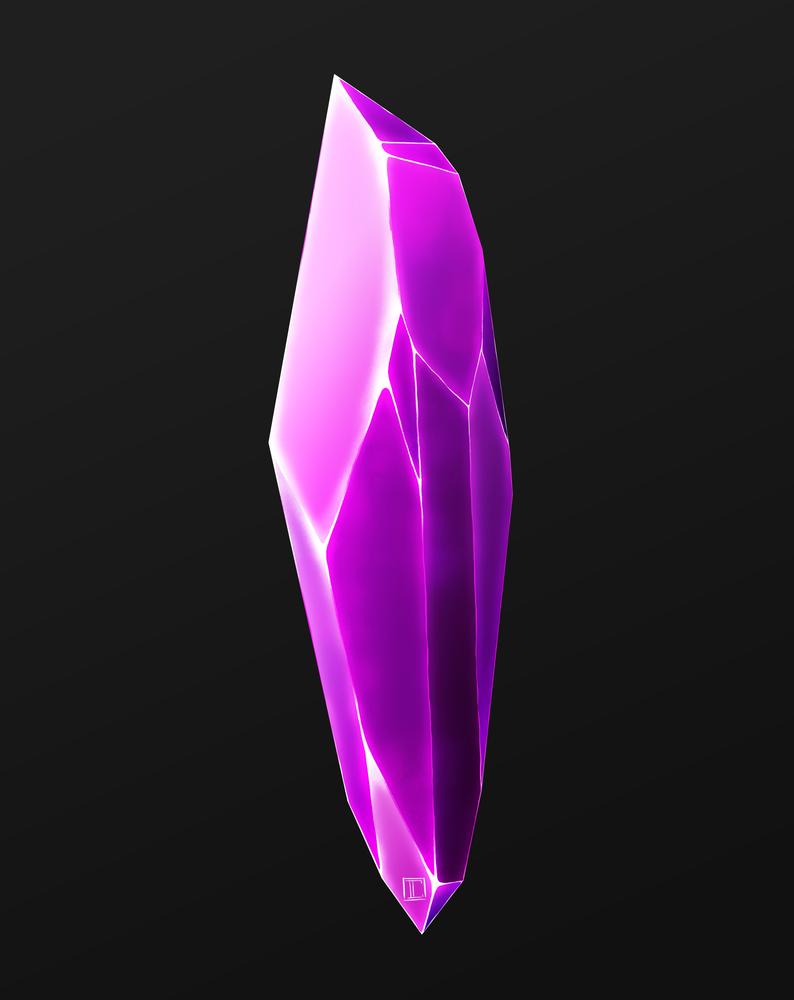 Purple Crystal Shard Art Print By Ripple Draws X Small Crystal Drawing Crystals Art Drawing Crystal Tutorial