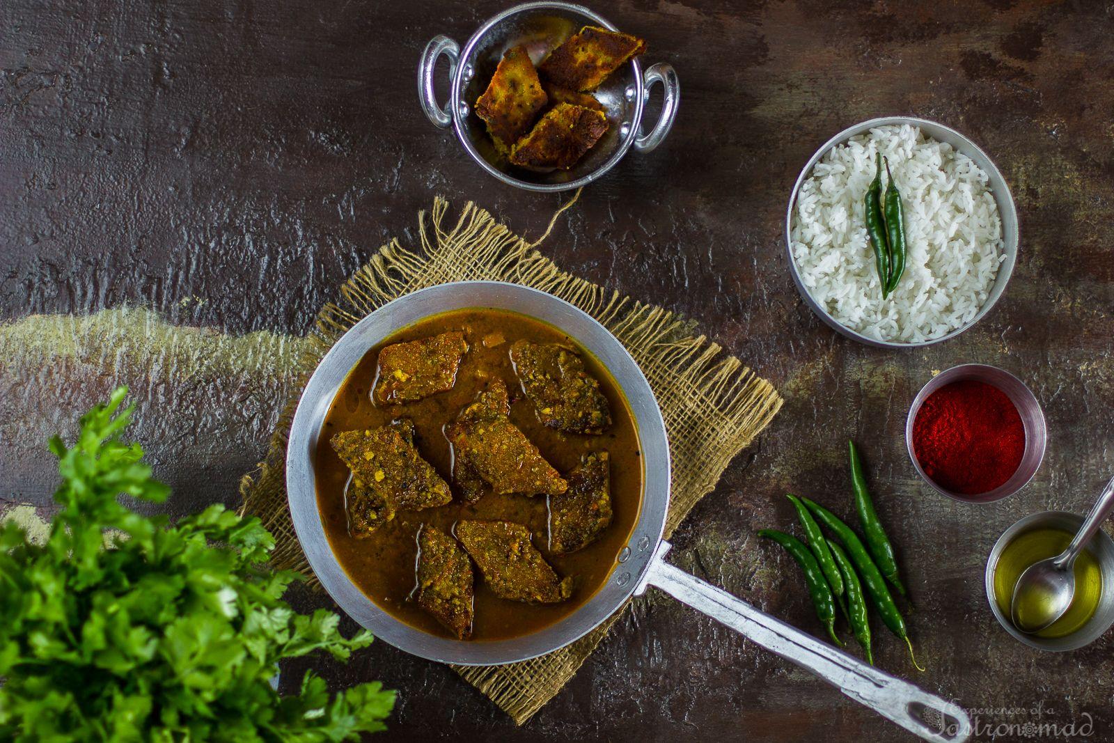 Kumror Dhokar Dalna (Pumpkin and Lentil Cake Curry)