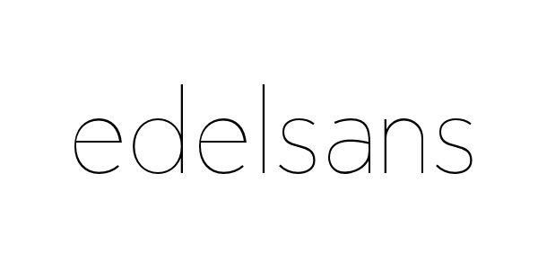 font name edelsans simple clean