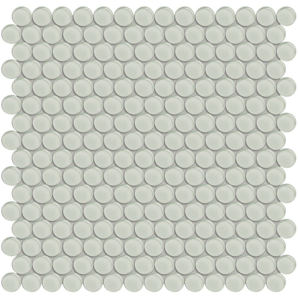Arctic Fern Penny Round Glass Mosaic 9 55 Sq Ft Case Mosaic