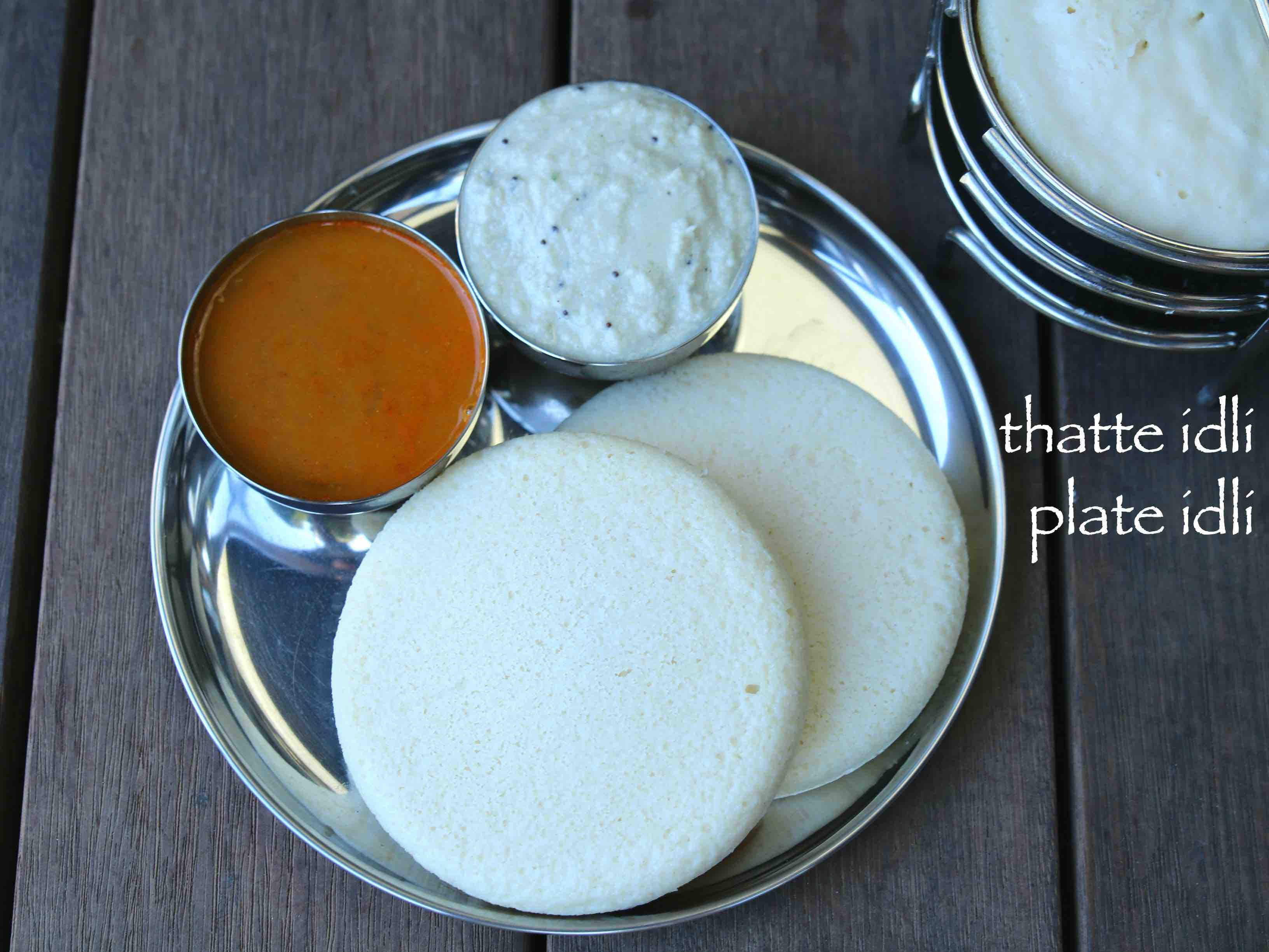 thatte idli recipe, tatte idli or plate idli, how to make thatte ...