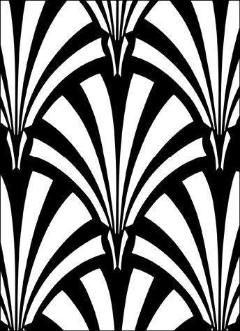 Art Deco Repeat No 28 stencils, stensils and stencles outils et