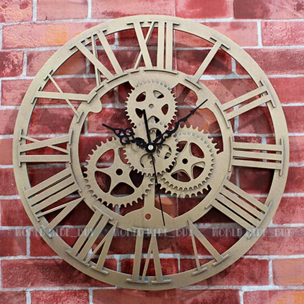 Large Wall Clock Gears Tyres2c