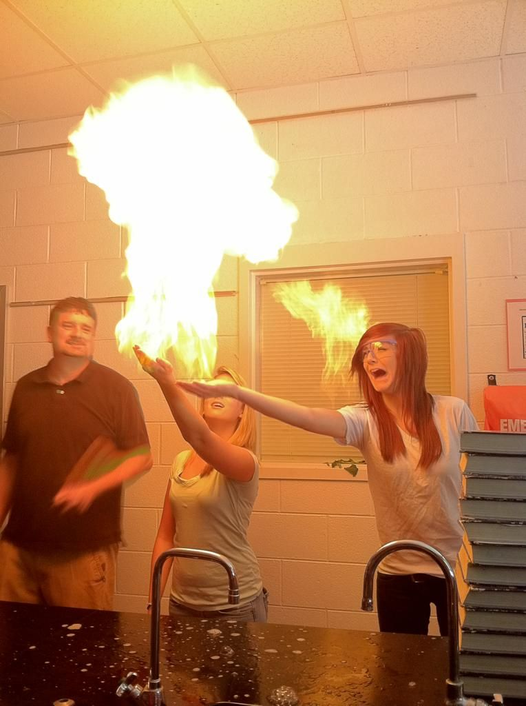 Just Setting Bubbles On Fire In High School Science Class