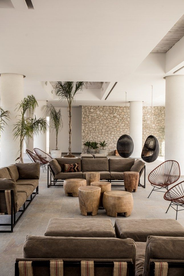 Ak1 Hotel Design Interior Ibiza Style Lobby African