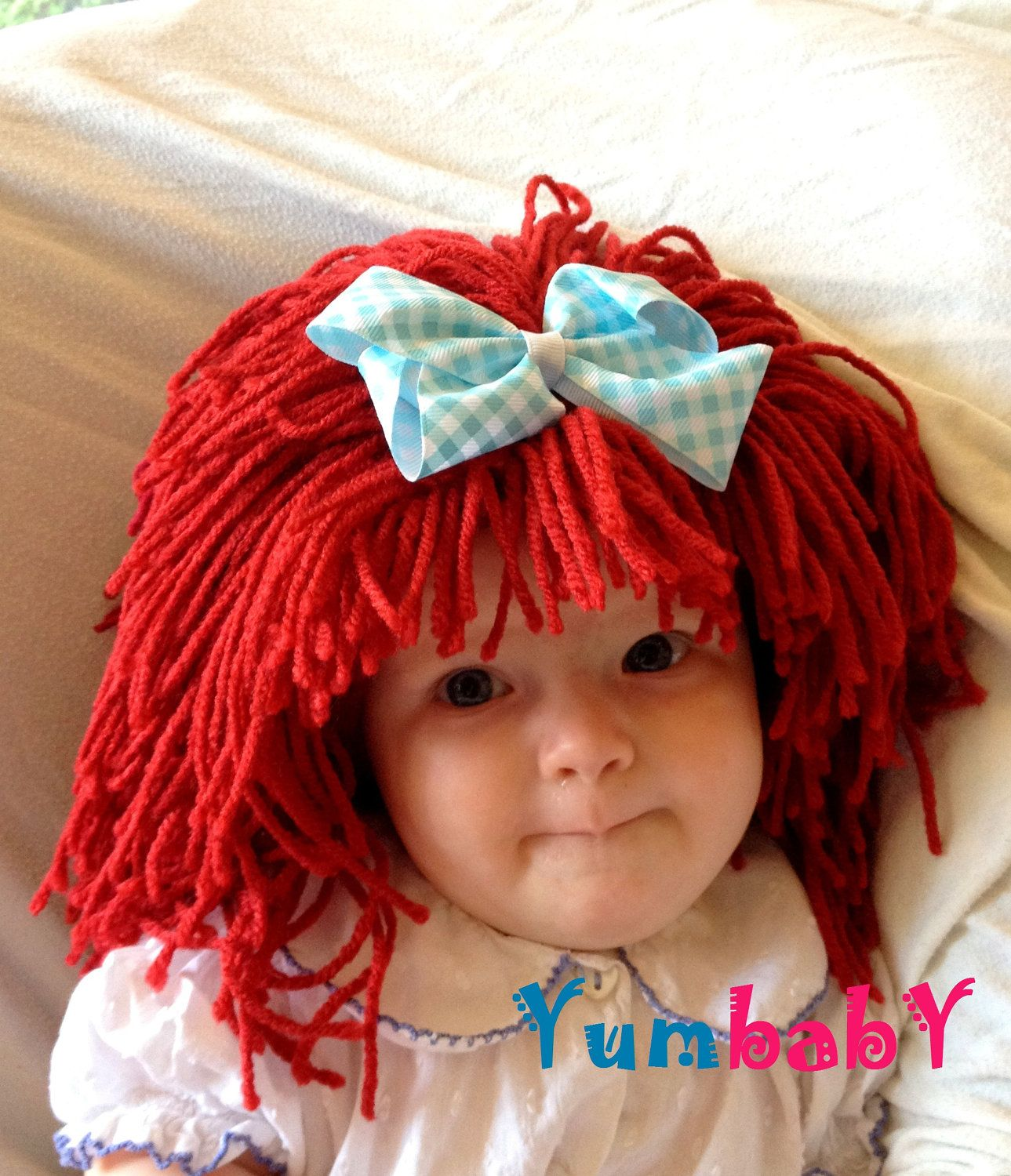 Raggedy ann wig Baby hat Halloween Costume Baby wig by YumBaby ... b9201a655804