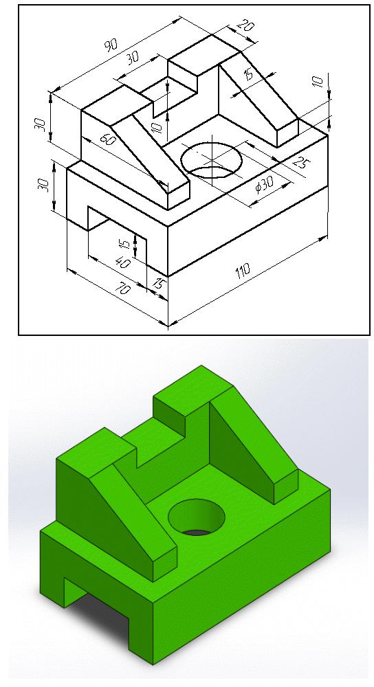 Sadece orta düzlem kullanarak Solidworks te kısa