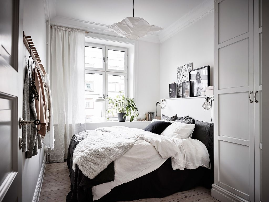 Scandinavian Bedrooms small scandinavian bedroom | bedroom - blog | pinterest
