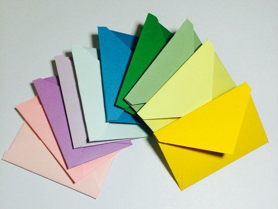 Little envelopes with cards 2x3 by GreetingWithLove on Etsy