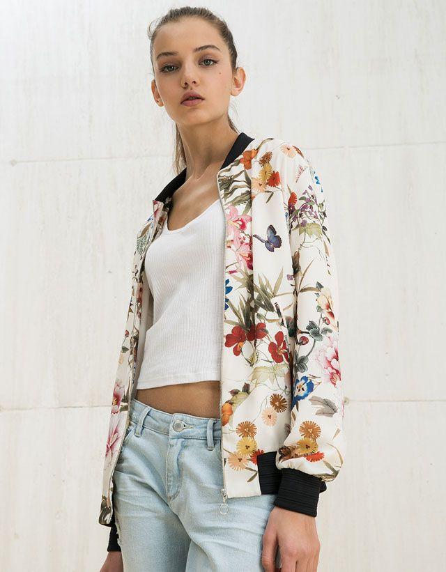 Bomber jacket - WOMAN - WOMAN - Bershka Singapore  1c828709017