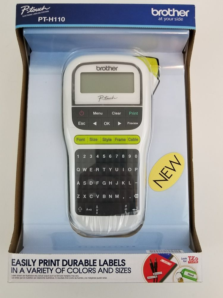 Brother P Touch Pt H110 Label Maker Handheld Brand New In Box Free Shipping Brother Thermal Labels Label Maker Labels