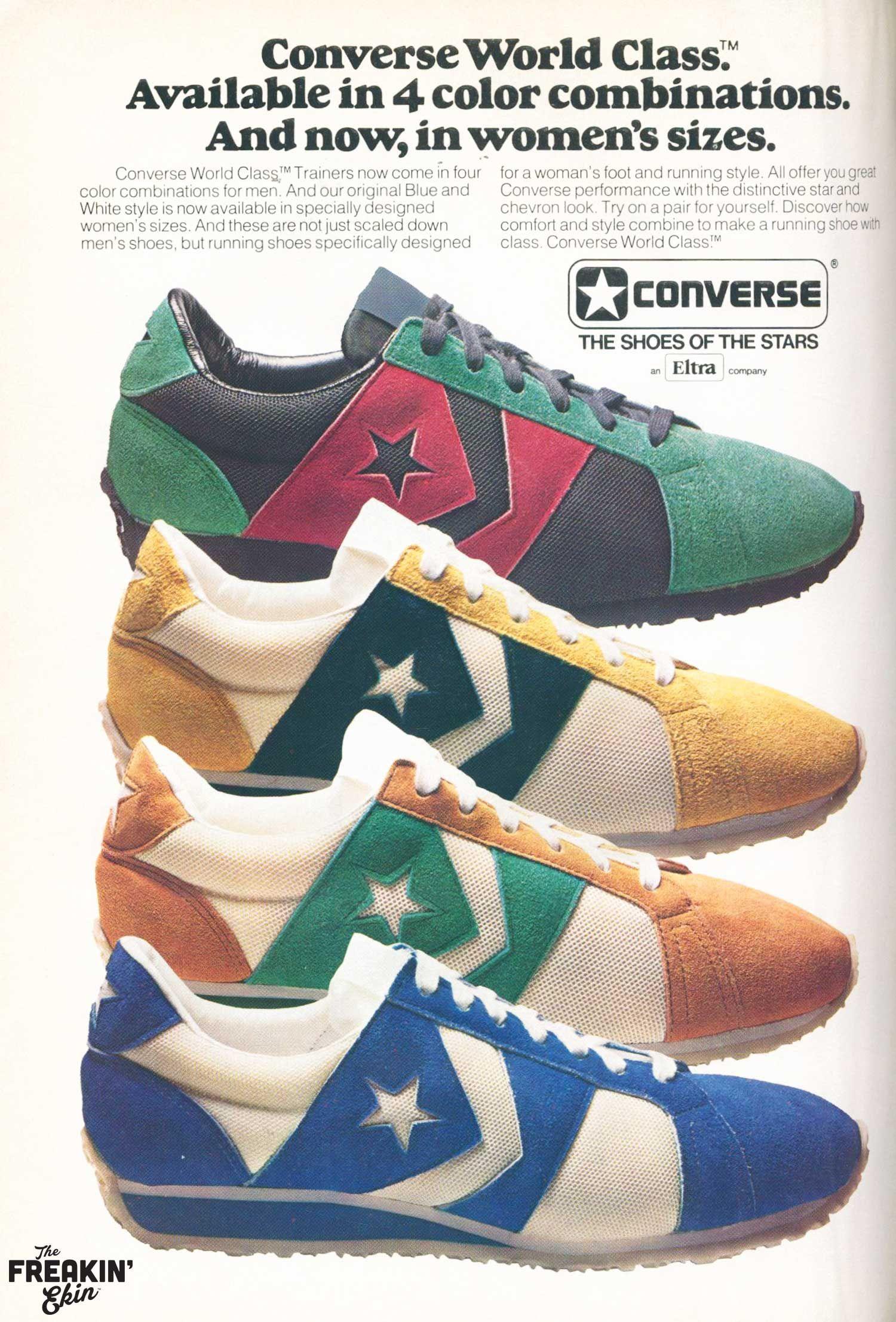 separation shoes b6d02 2fa78 Converse World Class 1977 vintage sneaker ad   the Freakin  Ekin