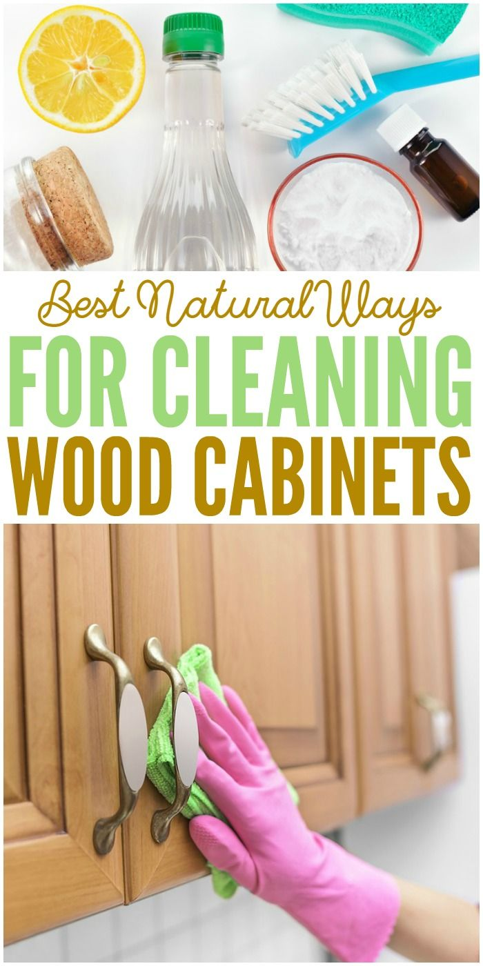 Fresh Cleaning Wood Cabinets with Dawn
