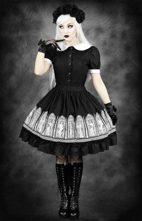 Gothic Lolita! I actually just recently bought this skirt and am so happy to wear it! This is a great cord idea.