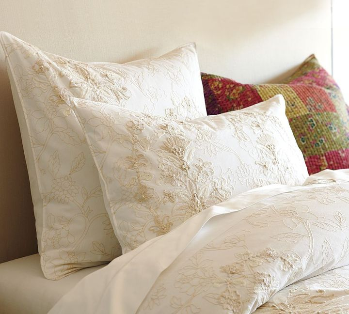 Pottery Barn Floral Embroidered Duvet Embroidered Duvet Cover Beautiful Duvet Cover Duvet Covers