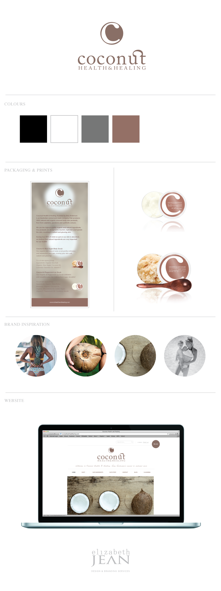 Coconut Health & Healing Brand Identity, Packaging