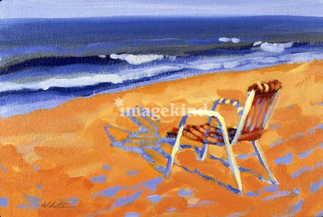 """Beach Chair"" by Roger White, New York City // Imagekind.com – Buy stunning, museum-quality fine art prints, framed prints, and canvas prints directly from independent working artists and photographers."