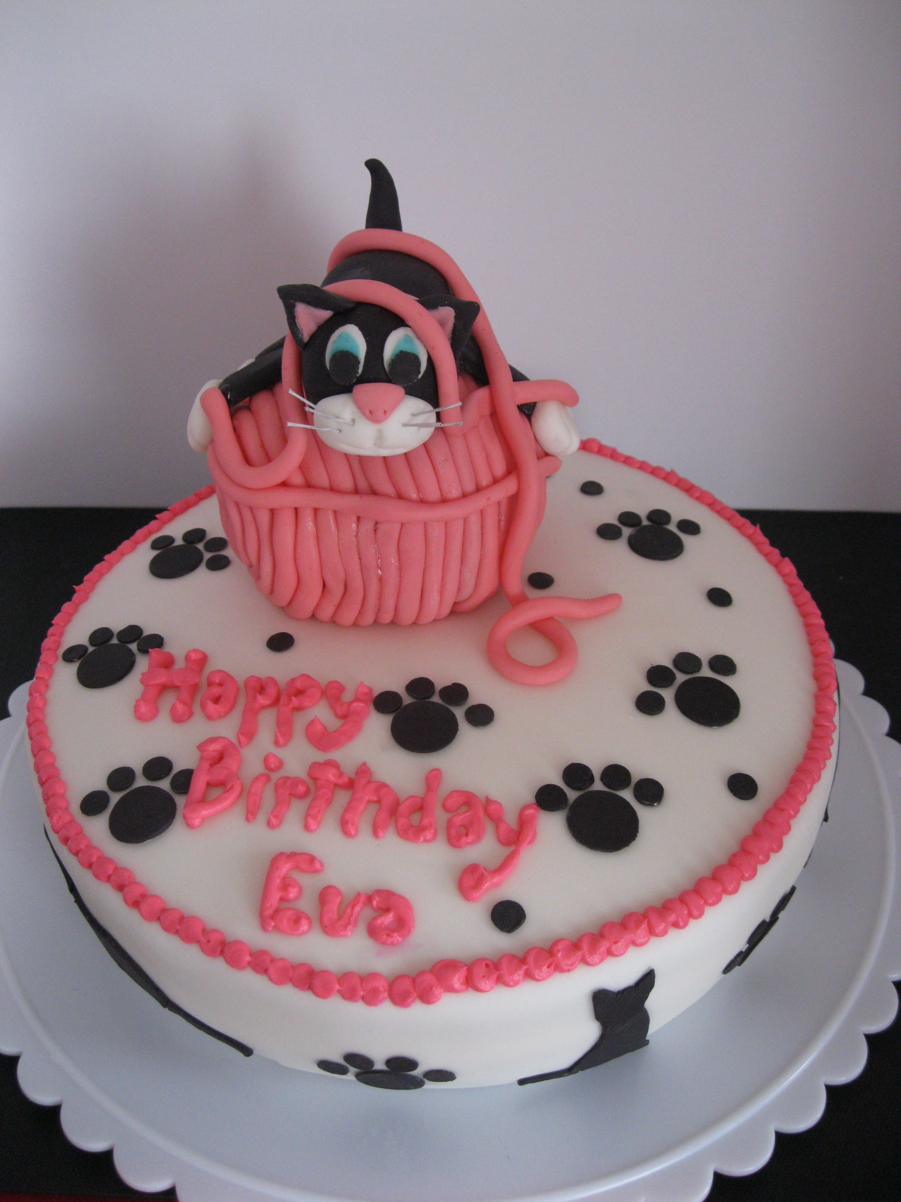 Eva S Cat Birthday Cake