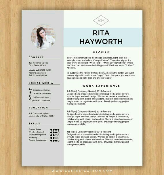 An Excellent Resume Idea  So Well Done And So Clean Totally Has