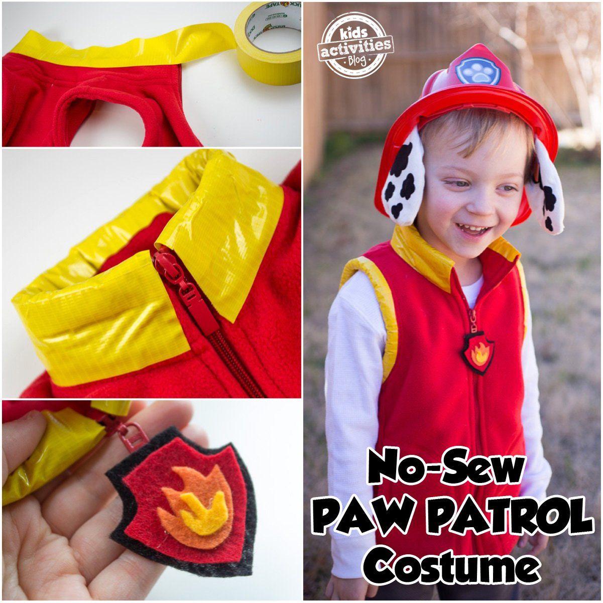 No-Sew PAW Patrol Marshall Costume  fe489a96dc