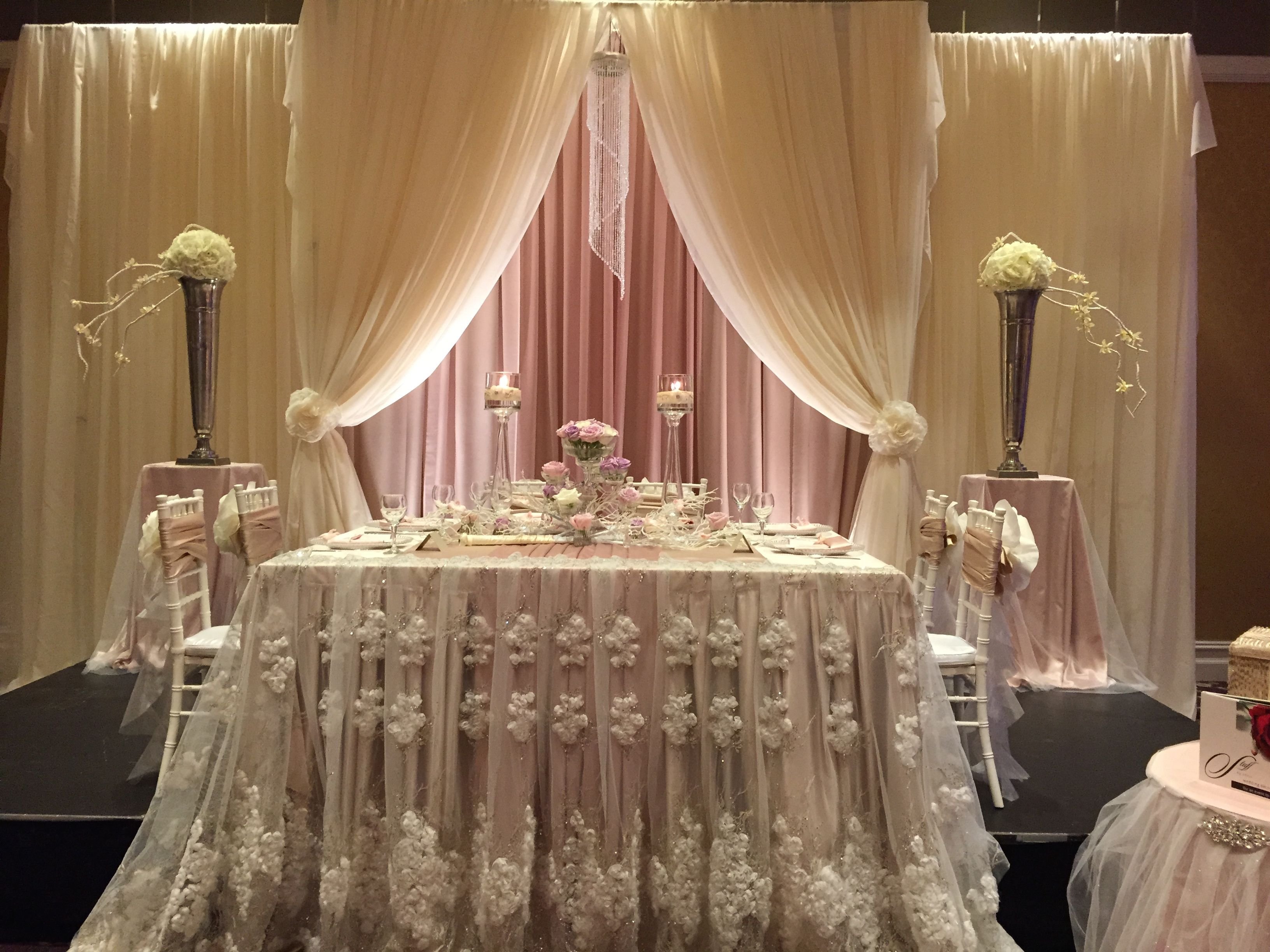 Timeless Ivory Gold Wedding With Scottish Traditions In: Ivory, Champagne, Blush #draping And