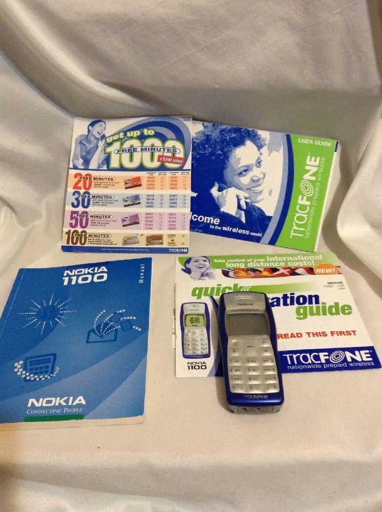 Nokia 1100 1100b Blue TRACFONE Cellular burn Phone #Nokia