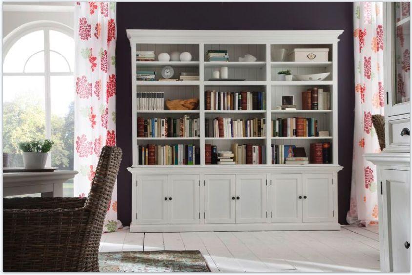 landhausm bel weiss halifax b cherschrank b cher regal. Black Bedroom Furniture Sets. Home Design Ideas