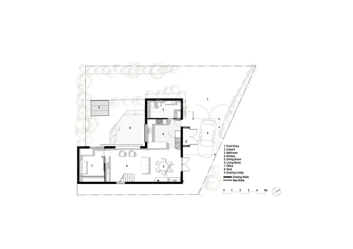 Gallery Of Casa Crisp Buck Simple 19 Ground Floor Plan How