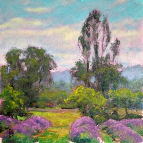 "Daily Paintworks - ""Mountainside Lavender"" - Original Fine Art for Sale - © Michael Orwick"