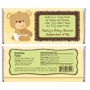 Baby Teddy Bear - Personalized Lip Balm Baby Shower Favors