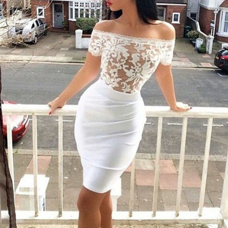 Sexy short lace dress