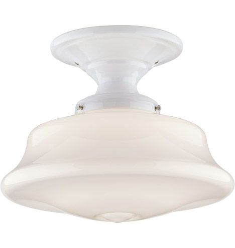Hawkins porcelain fixture from rejuvenation classic semi flush ceiling fixture