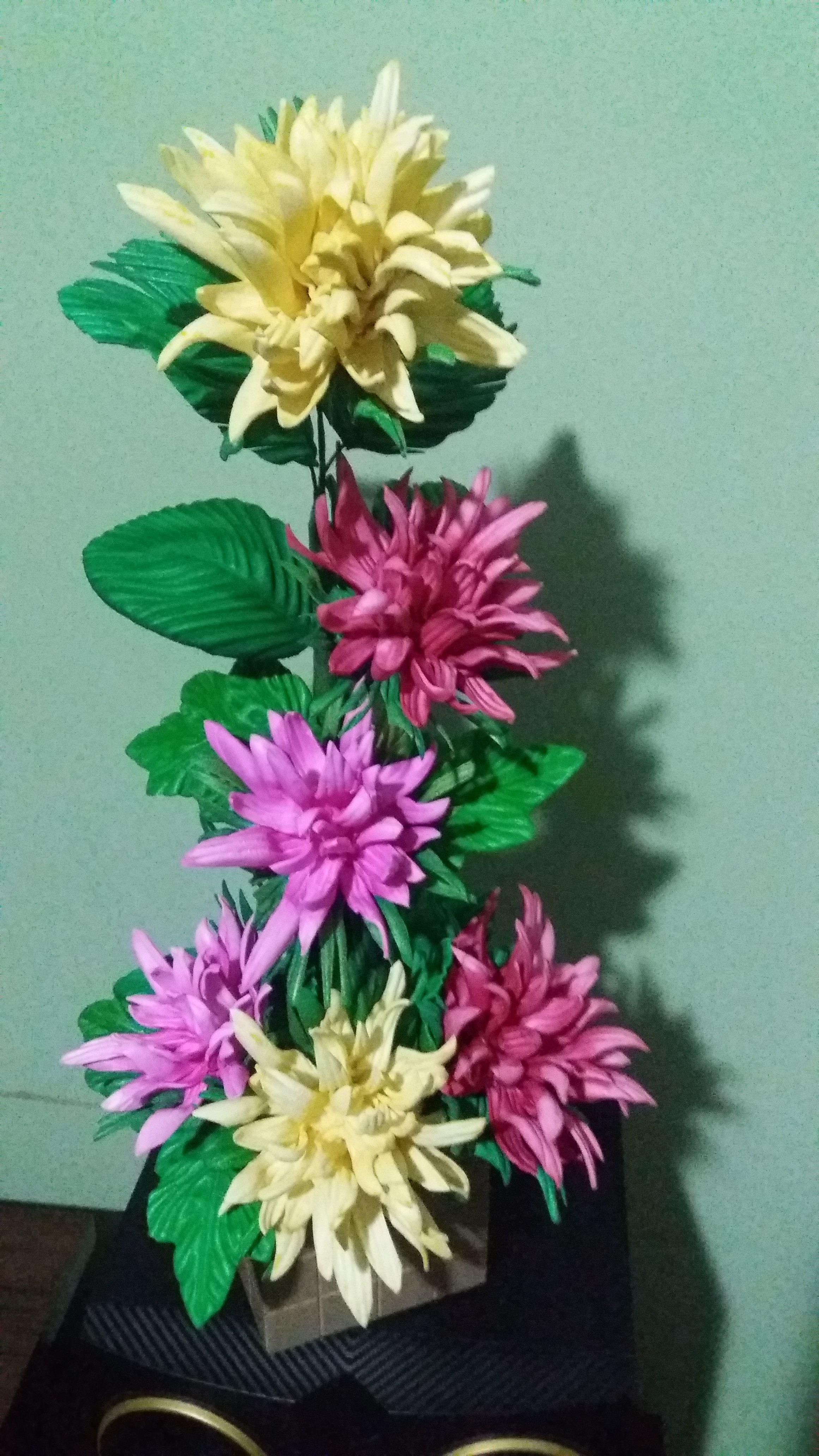 Meu Primeiro Arranjo De Crisantemos Com Imagens Flores