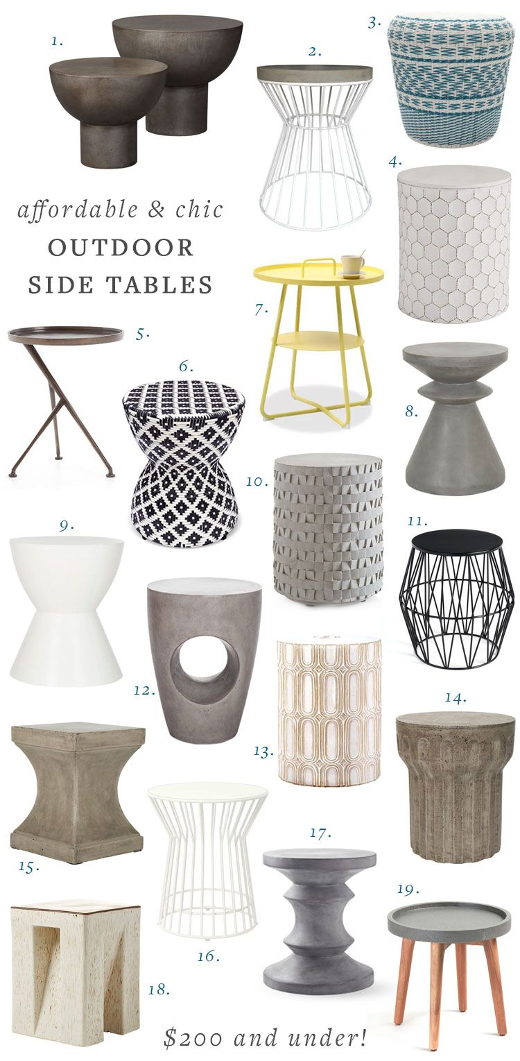 Affordable Outdoor Side Tables For Your Deck Or Patio Jojotastic Outdoor Side Tables Side Table Decor Bedroom Minimalist Side Table