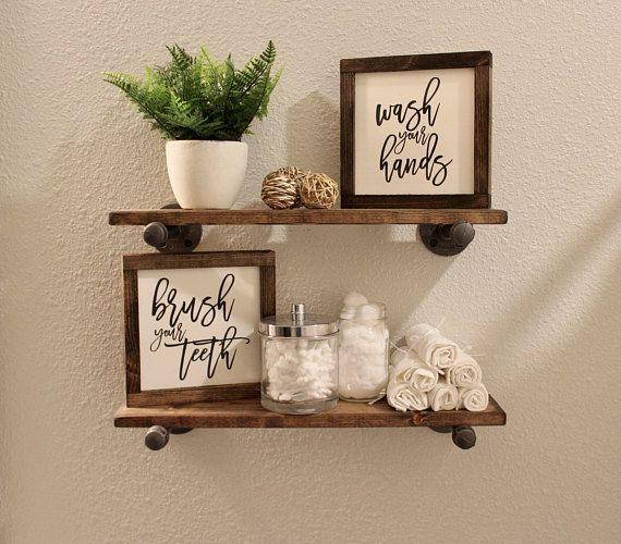 Photo of Waschen Sie Ihre Hände putzen Sie Ihre Zähne Zeichen, Wanddekoration, Regal De…
