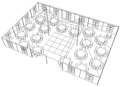 c78c9aaad7e9258a928452d3b49155ae 200 people tent layout suggested seating configuration for 150