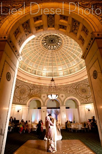 Dancing Under The Tiffany Dome Chicago Cultural Center Chicago Cultural Center Wedding Muslim Wedding Ceremony