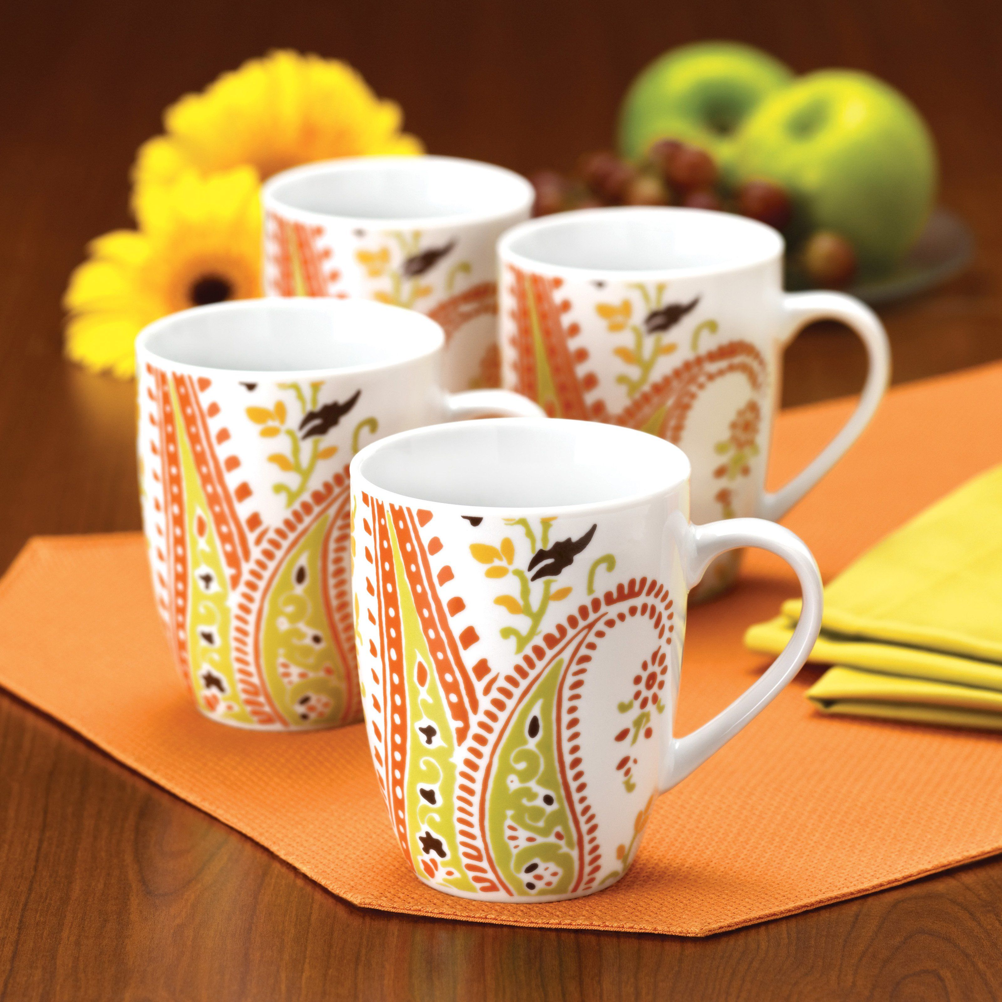 Rachael Ray Paisley Mugs - Set of 4 - $19.99 @hayneedle & Have to have it. Rachael Ray Paisley Mugs - Set of 4 - $19.99 ...