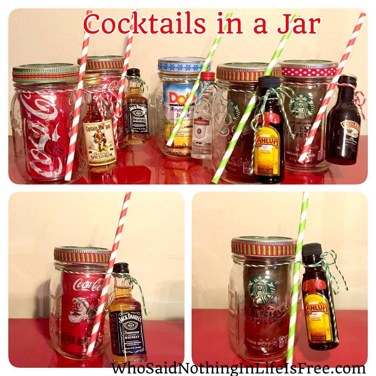 Christmas cocktail gift mason jar cocktail gifts diy